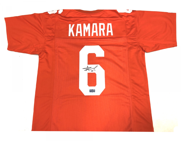 Alvin Kamara Signed Tennessee Volunteers Orange Custom Jersey-0