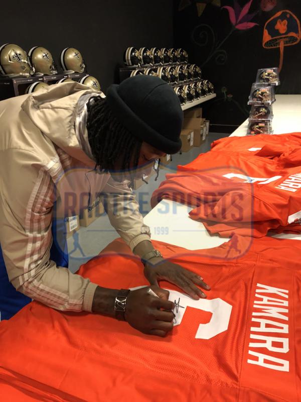 Alvin Kamara Signed Tennessee Volunteers Orange Custom Jersey-26055