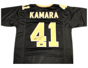 Alvin Kamara Signed New Orleans Saints Black Custom Jersey-0