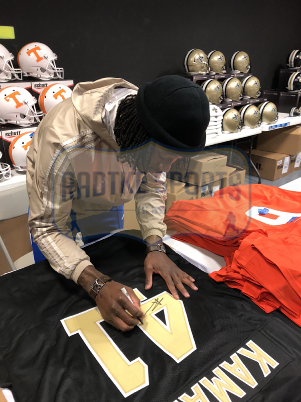 Alvin Kamara Signed New Orleans Saints Black Custom Jersey-26033