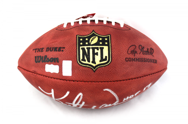 Kurt Warner Signed Los Angeles Rams Authentic Wilson NFL ...