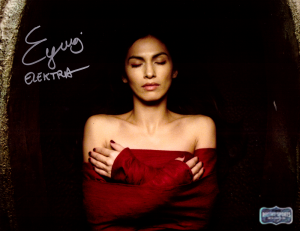 "Elodie Yung Signed Daredevil Elektra 8x10 Photo With ""Elektra"" Inscription - Red Dress-0"