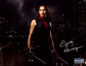 "Elodie Yung Signed Daredevil Elektra 8x10 Photo With ""Elektra"" Inscription - Rooftop Skyline-0"