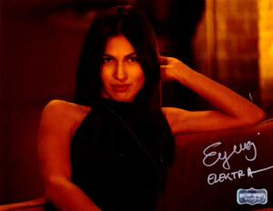 "Elodie Yung Signed Daredevil Elektra 8x10 Photo With ""Elektra"" Inscription - On Couch-0"
