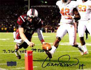 Connor Shaw Signed South Carolina Gamecocks 8x10 NCAA Photo With Career Stats Inscription-0