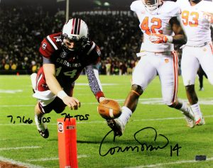 Connor Shaw Signed South Carolina Gamecocks 16x20 NCAA Photo With Career Stats Inscription-0