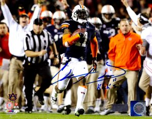 "Chris Davis Signed Auburn Tigers 8x10 NCAA Photo With ""Kick Six"" Inscription-0"