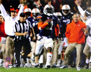 "Chris Davis Signed Auburn Tigers 24x32 Wrapped Canvas With ""Kick Six - Game Over Bama - War Eagle!"" Inscription Limited Edition Of 111-0"