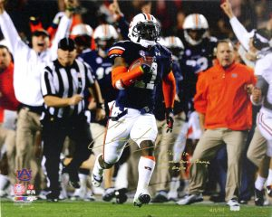 "Chris Davis Signed Auburn Tigers 24x32 Wrapped Canvas With ""Kick Six - Game Over Bama - War Eagle!"" Inscription Limited Edition #11 Of 111-0"