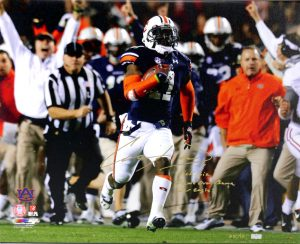 "Chris Davis Signed Auburn Tigers 24x32 Wrapped Canvas With ""Kick Six - Game Over Bama - War Eagle!"" Inscription Limited Edition #111 Of 111-0"