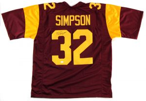 OJ Simpson Signed USC Trojans Maroon Custom Jersey-0