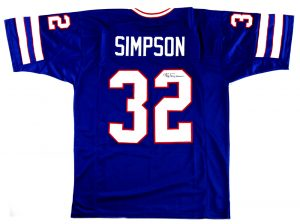 OJ Simpson Signed Buffalo Bills Blue Custom Jersey-0