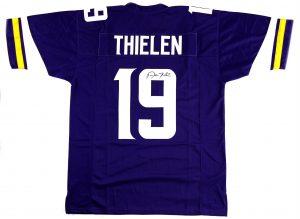 Adam Thielen Signed Minnesota Vikings Purple Custom Jersey-0