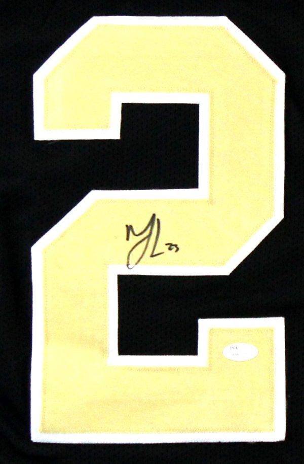 Marshon Lattimore Signed New Orleans Saints Black Custom Jersey-26782