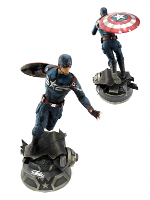 Stan Lee Signed Captain America Premium Format™ Figure by Sideshow Collectibles-0