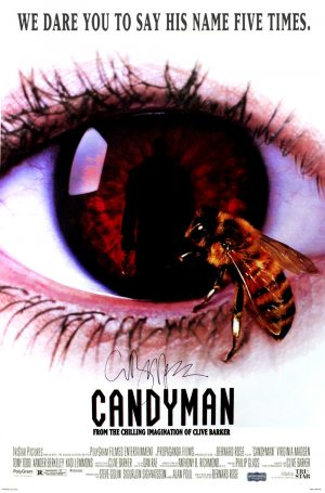 Clive Barker signed Candyman Full Size Poster -0