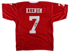 Case Keenum Signed Houston Red Custom Football Jersey-0