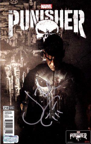 Jon Bernthal Signed Marvel Punisher Netflix Cover #218 Comic-0