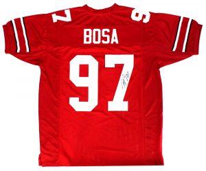 Joey Bosa Signed Ohio State Buckeyes Red Custom Jersey-0