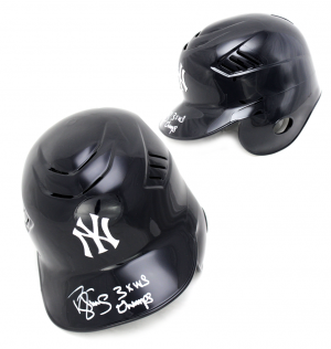 "Darryl Strawberry Signed New York Yankees MLB Batting Helmet with ""3x WS Champs"" Inscription - JSA-0"