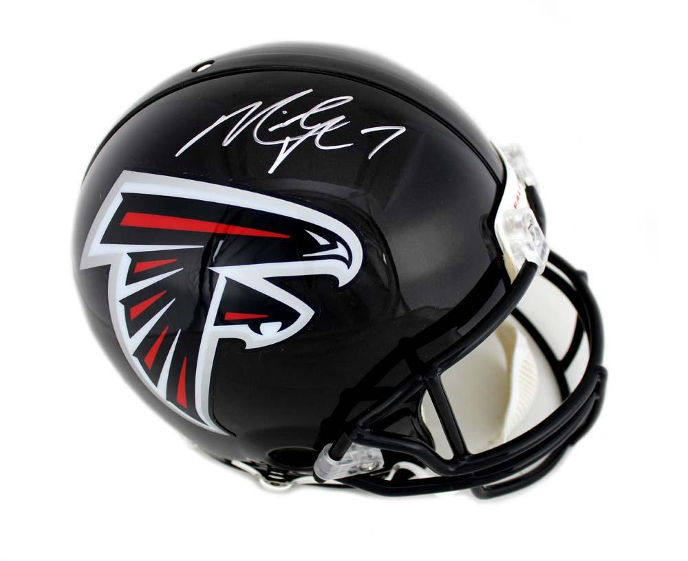 25f42f0ae Michael Vick Signed NFL Atlanta Falcons Current Authentic Helmet ...
