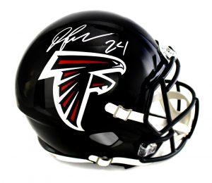 Devonta Freeman Signed Atlanta Falcons Riddell Full Size NFL Speed Helmet-0