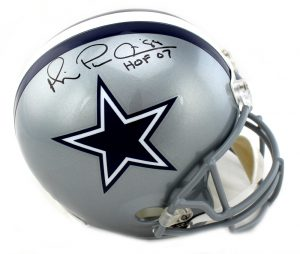 "Michael Irvin Autographed/Signed Dallas Cowboys Riddell Full Size NFL Helmet With ""Playmaker & HOF"" Inscription-0"