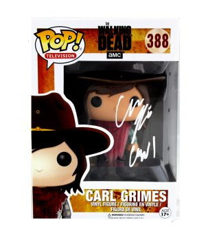 "Chandler Riggs ""Carl Grimes"" Signed The Walking Dead Funko Pop! #388 Vinyl Action Figure-0"