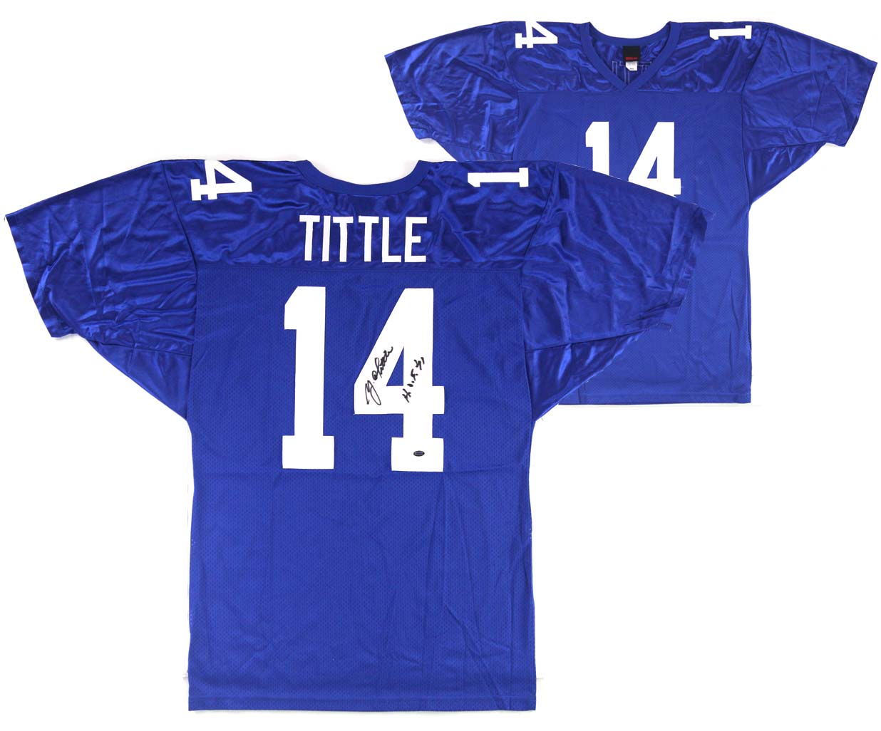info for c97b9 5a168 Y.A. Tittle Signed New York Giants Wilson Authentic Jersey With