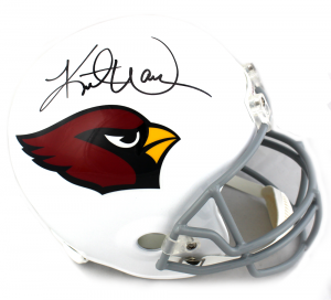 Kurt Warner Signed Arizona Cardinals Full Size Helmet-0