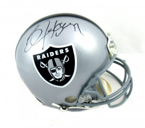 Bo Jackson Signed Los Angeles Raiders Proline Helmet-0