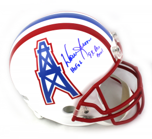 6431b7354 Warren Moon Autographed/Signed Houston Oilers Riddell Throwback Full Size  NFL Helmet with