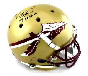 "Charlie Ward Signed Florida State Seminoles Schutt Full Size NCAA Helmet With ""93 Heisman"" Inscription-0"