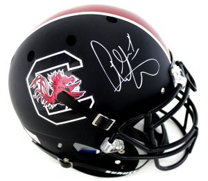 Alshon Jeffery Signed South Carolina Gamecocks Authentic Schutt Black NCAA Helmet-0