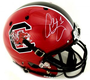 Alshon Jeffery Signed South Carolina Gamecocks Schutt Maroon Full Size NCAA Helmet-0