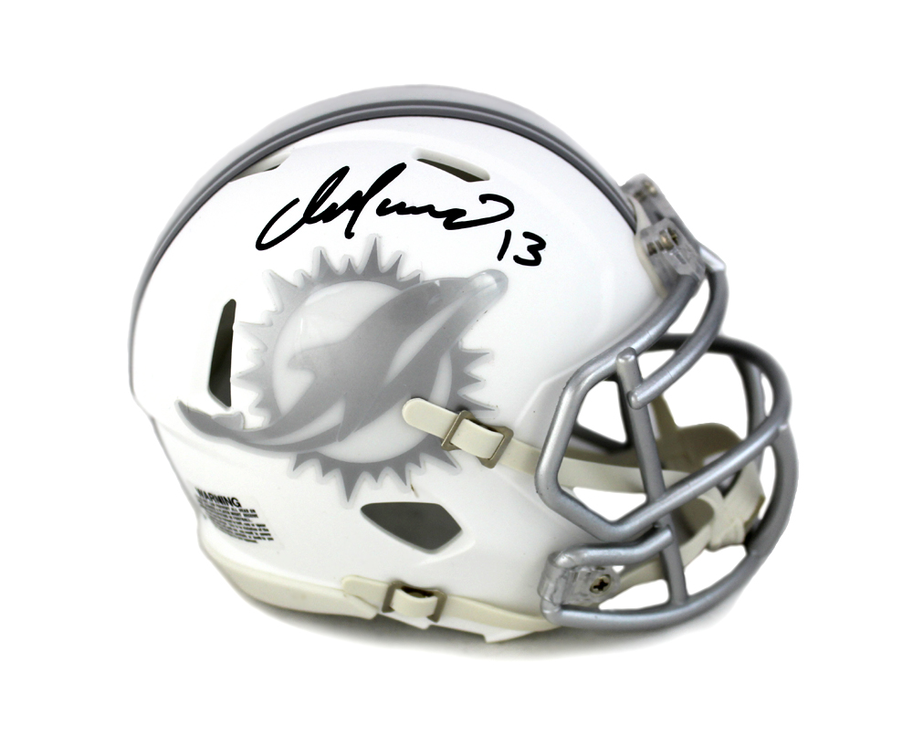 best sneakers 7a628 34feb Dan Marino Signed Miami Dolphins Riddell Current Ice NFL Mini Helmet