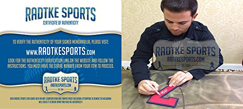 Tommy La Stella Autographed/Signed Atlanta Braves Majestic White Home MLB Jersey-7819