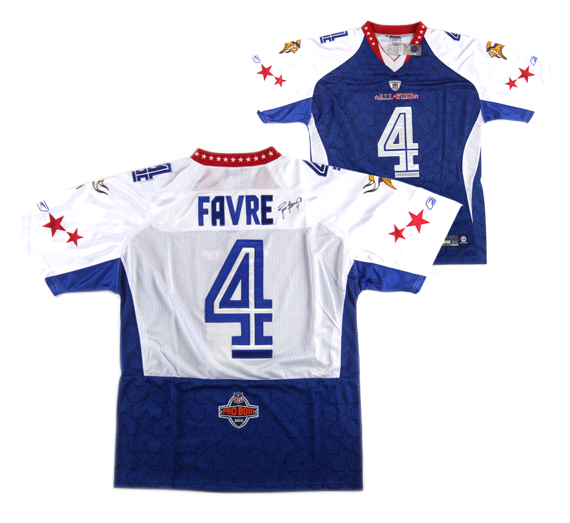 super popular 98a8c c0f61 Brett Favre Autographed 2010 Pro Bowl Jersey Vikings