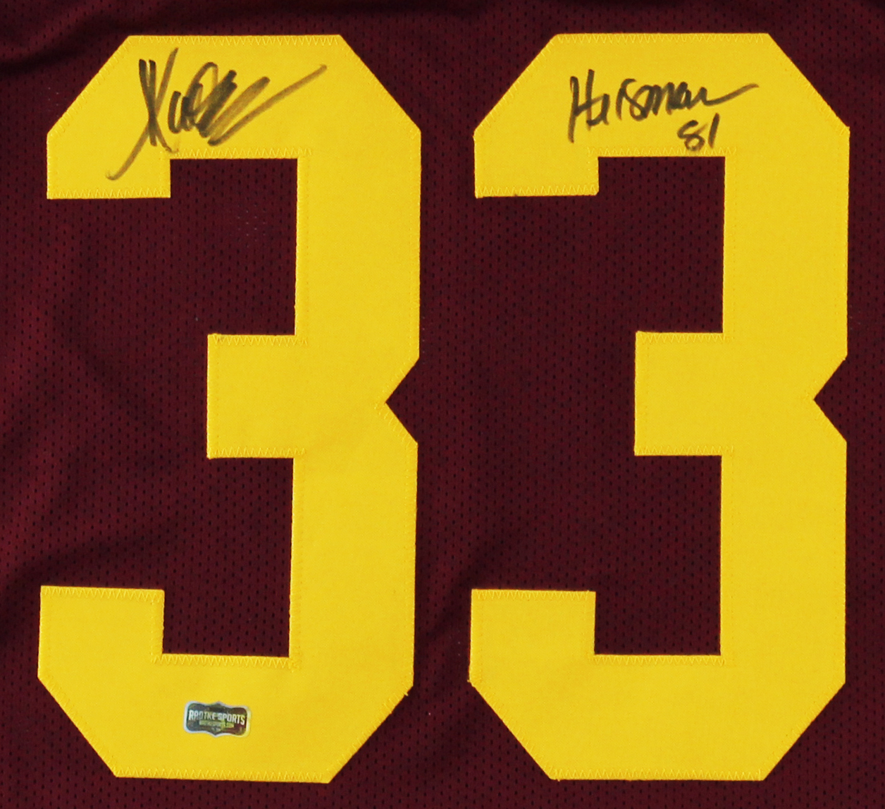 official photos 7081a bfef0 Marcus Allen Signed USC Custom Red Jersey with