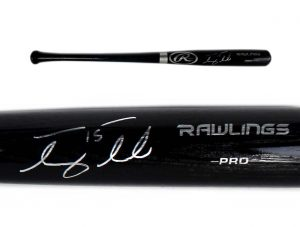 Tim Tebow Signed New York Mets Rawlings Pro Black Bat-0