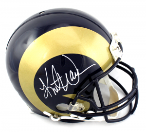 Kurt Warner Signed Los Angeles Rams Authentic Helmet-0