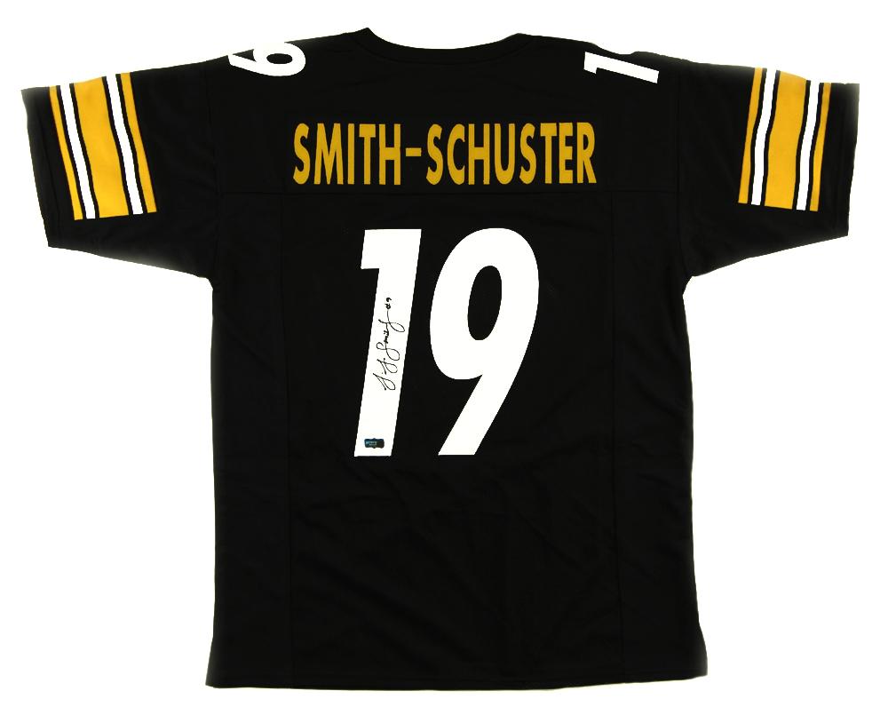 best service d44a3 1539f JuJu Smith-Schuster Signed Pittsburgh Custom Black Jersey