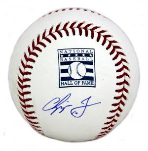 Chipper Jones Signed Atlanta Braves Official Rawlings Hall of Fame Commemorative Baseball-0