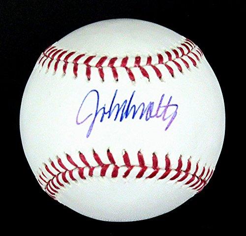 John Smoltz Autographed/Signed Atlanta Braves Rawlings Official Major League Baseball-7874