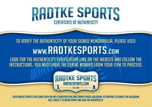 Nolan Ryan Autographed/Signed Texas Rangers Rawlings Major League Baseball with Career Stats Inscription-7884