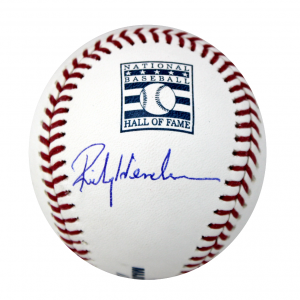Rickey Henderson Signed Rawlings Hall of Fame Baseball - Oakland Athletics-0