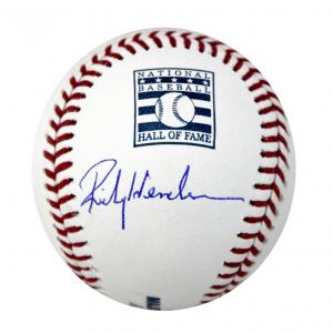 Rickey Henderson Signed Rawlings Hall of Fame Baseball - Oakland Athletics-0