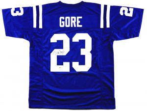 Frank Gore Signed Indianapolis Colts Custom Blue Jersey-0