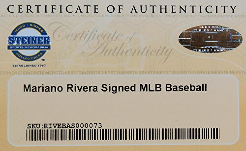 Mariano Rivera Autographed/Signed New York Yankees Rawlings Official Major League Baseball - Steiner-7886