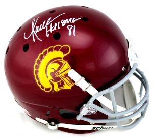 "Marcus Allen Autographed/Signed USC Trojans Riddell Full Size NCAA Helmet with ""Heisman 81"" Inscription-0"